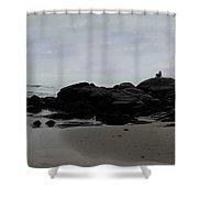 Solitude At Goose Rocks Shower Curtain by Wayne King