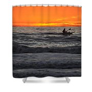 Solitude But Not Alone Shower Curtain