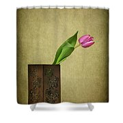 Solitude In Bloom Shower Curtain
