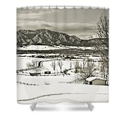 Solitude In Boulder County Shower Curtain