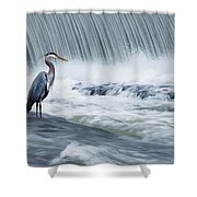 Solitude In Stormy Waters Shower Curtain