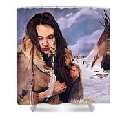 Solitude Shower Curtain by J W Baker