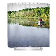 Solitude On Susan Lake Shower Curtain