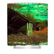 Solitude On The Backroads In Neon Shower Curtain