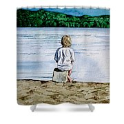 Solitude Upon The Lake Shower Curtain