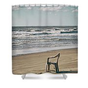 Solo On The Beach Shower Curtain by Charles McKelroy