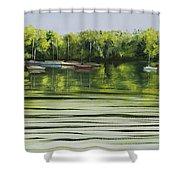 Solo Sail Shower Curtain