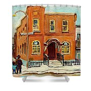 Solomons Temple Montreal Bagg Street Shul Shower Curtain