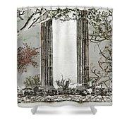 Solorised Pillars Shower Curtain