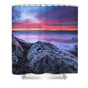 Solstice Sunrise At Jennes Beach Shower Curtain