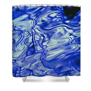 Solvent Blue Shower Curtain