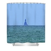 Sombero Reef Lighthouse Shower Curtain