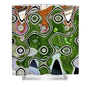 Some Pink And Green Abstract Shower Curtain