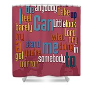 Somebody To Love. Queen. Typography Art. Gift For Music Fans Shower Curtain