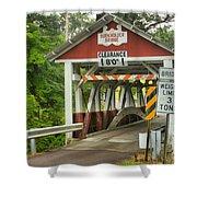 Somerset County Burkholder Covered Bridge Shower Curtain