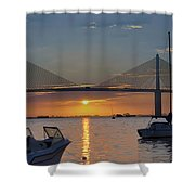 Something About A Sunrise Triptych 2 Shower Curtain