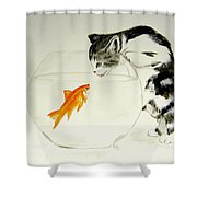 Something Fishy Shower Curtain