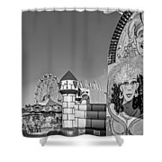 Something For Everyone - Bw Shower Curtain