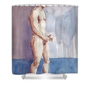 Something In Hand Shower Curtain