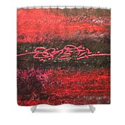 Something In Red Shower Curtain