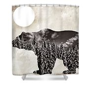 Something Wild Bear Shower Curtain
