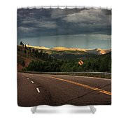 Sometime Life Throws You Curves, Enjoy The Ride Shower Curtain