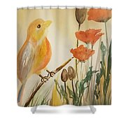 Somewhere In The Poppy Field Shower Curtain
