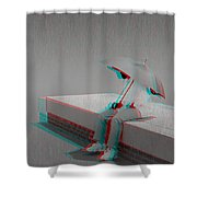 Somewhere It's Raining - Use Red-cyan 3d Glasses Shower Curtain