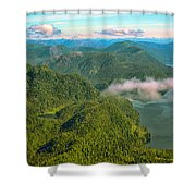 Over Alaska - June  Shower Curtain