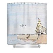 Somnath Jyotirling Shower Curtain