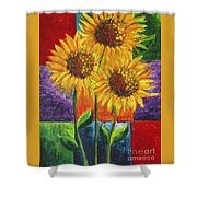 Sonflowers I Shower Curtain