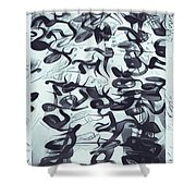 Song In Blue Shower Curtain