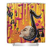 Song Singing Song Shower Curtain