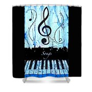 Songs - Blue Shower Curtain