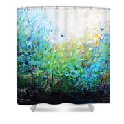 Songs Of Spring Shower Curtain