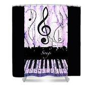 Songs - Purple Shower Curtain