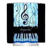 Songwriter - Blue Shower Curtain