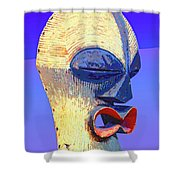 Songye Kifwebe Mask Shower Curtain
