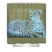 Sonia The Cheetah II Shower Curtain