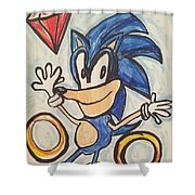 Sonic The Hedgehog Shower Curtain