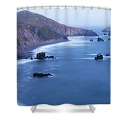 Sonoma Coastline After Dark Shower Curtain by Jim Thompson