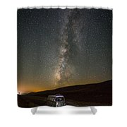 Sonora The Vw Bus Under The Milky Way Shower Curtain