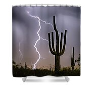 Sonoran Desert Monsoon Storming Shower Curtain