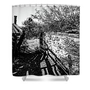 Sonoran Ghost Corral Shower Curtain