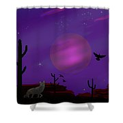 Sonoran Lucid Dream Shower Curtain