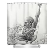 S Is For Sonorous Shower Curtain