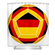 Soocer Ball With Germany Flag Shower Curtain