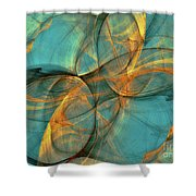 Soothing Blue Shower Curtain