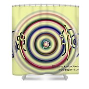 Soothing Reiki Shower Curtain