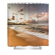 Soothing Seaside Scene Shower Curtain